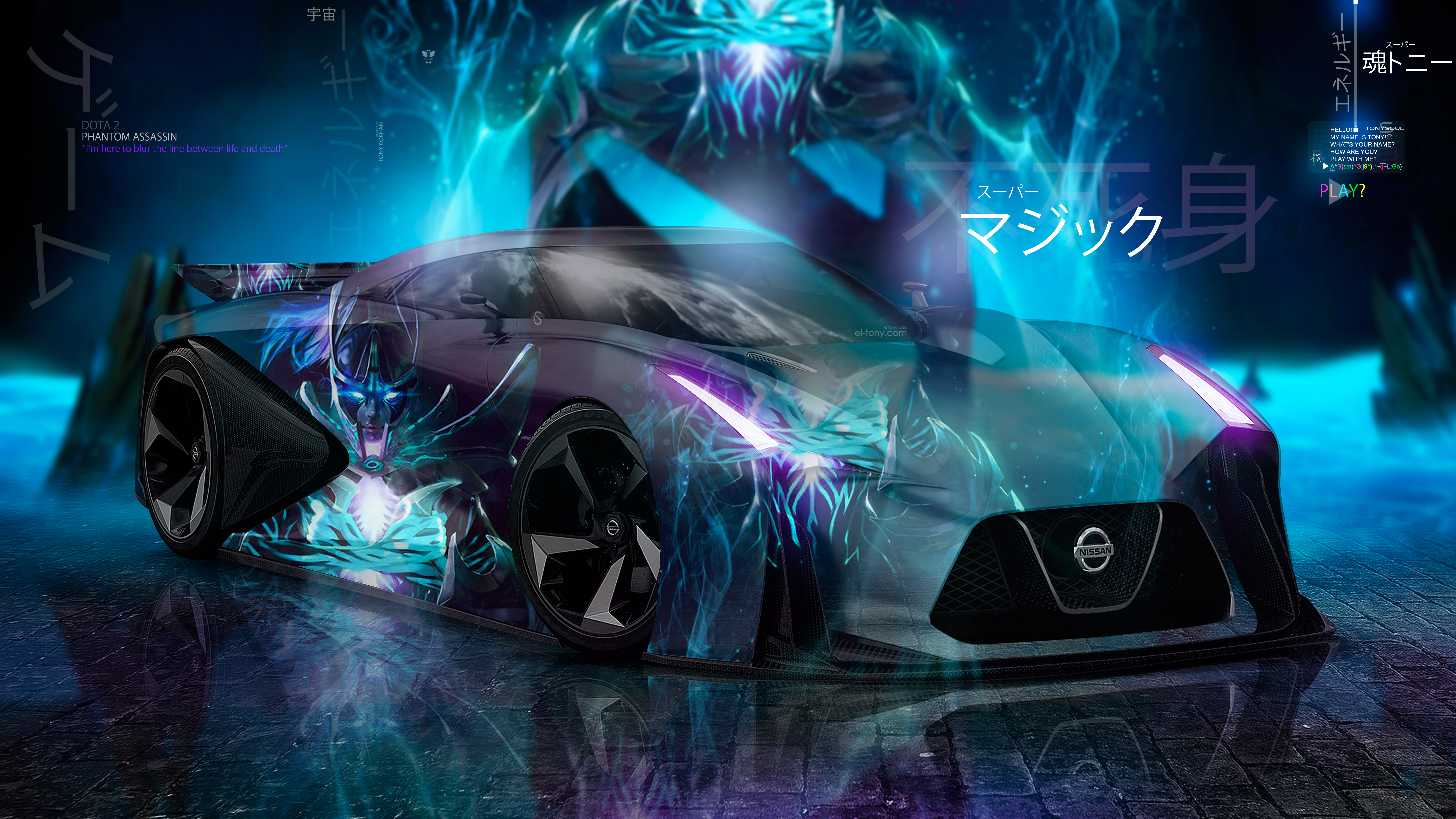 Nissan-GTR-2020-Super-Aerography-Phantom-Assassin-Dota-2-Game-Universe-Magic-Invulnerability-TonySoul-Art-Car-2020-Multicolors-8K-Wallpapers-design-by-Tony-Kokhan-www.el-tony.com-image