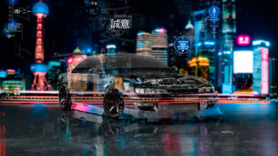 Nissan-Silvia-S14-JDM-Tuning-Open-Engine-Super-Crystal-Sincerity-TonySoul-Artificial-Intelligence-Night-City-Art-Car-2020-Multicolors-8K-Wallpapers-by-Tony-Kokhan-www.el-tony.com-image