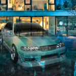 Toyota Mark2 JZX100 JDM Tuning Super Crystal Soul Expectation Transformation Energy Winter Street Home Art Car 2020