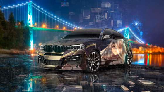BMW-X6-Lumma-Super-Anime-Girl-NieR-Automata-Game-Soul-Loneliness-Artificial-Intelligence-Love-Art-Car-2020-Multicolors-8K-Wallpapers-by-Tony-Kokhan-www.el-tony.com-image