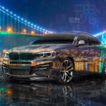 BMW X6 Tuning Lumma Super Crystal Canada Vancouver Lions Gate Bridge Night Soul Loneliness TonySoul Art Car 2020