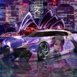 Bugatti La Voiture Noire Super Anime Girl Shinobu Kocho Kimetsu no Yaiba Artificial Intelligence TonySoul Art Car 2020
