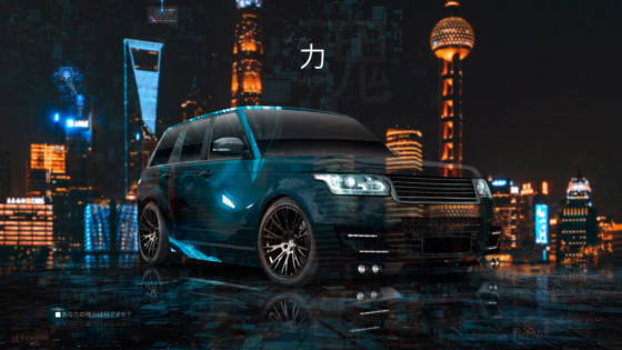 Land-Rover-Range-Rover-Lumma-Super-Crystal-Anime-Goku-Dragon-Ball-Soul-Force-Artificial-Intelligence-Nigh-City-Car-2020-Multicolors-8K-Wallpapers-by-Tony-Kokhan-www.el-tony.com-image