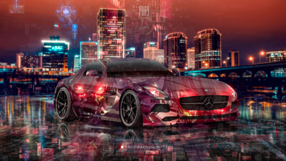 Mercedes-Benz-SLS-AMG-Anime-Code-Vein-Game-Dark-Soul-Artificial-Intelligence-TonySoul-Universe-Art-Car-2020-Multicolors-8K-Wallpapers-design-by-Tony-Kokhan-www.el-tony.com-image