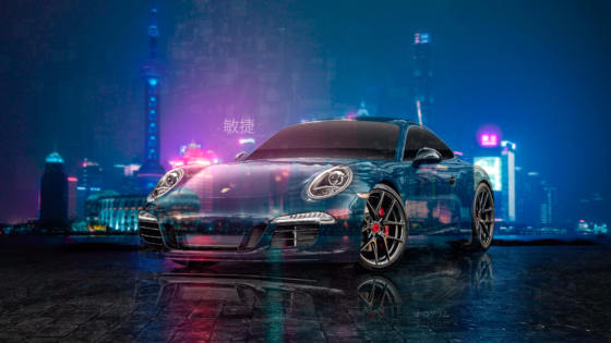 Porsche-991-Vorsteiner-Tuning-Super-Crystal-Night-City-Agile-Soul-Universe-TonySoul-Art-Car-2020-Multicolors-8K-Wallpapers-design-by-Tony-Kokhan-www.el-tony.com-image