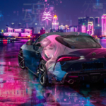 Toyota Supra A90 JDM Super Anime Girl Kamishiro Rize Tokyo Ghoul Beauty Soul Artificial Intelligence TonySoul Car 2020