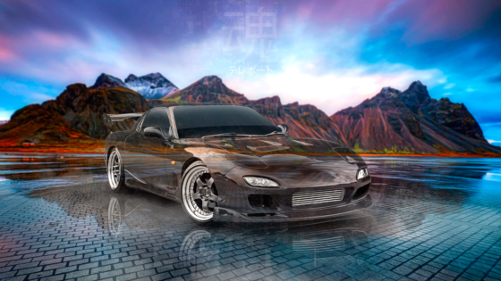 Mazda-RX7-JDM-Tuning-Super-Crystal-Soul-Teleport-Vestrahorn-Mountain-TonySoul-Universe-Art-Car-2020-Multicolors-8K-Wallpapers-design-by-Tony-Kokhan-www.el-tony.com-image