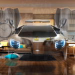 Ford GT FrontUp Open Doors Super Crystal Soul Flies At Home Universe TonySoul Fly Art Car 2020