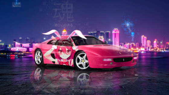 Ferrari-F355-Berlinetta-Anime-Girl-Bunny-Super-Crystal-Playful-Soul-Wuhan-China-Artificial-Intelligence-Art-Car-2020-Multicolors-8K-Wallpapers-by-Tony-Kokhan-www.el-tony.com-image