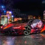 Lamborghini Centenario Super Dangerous Soul Anime Ken Kaneki Tokyo Ghoul Artificial Intelligence Night City Art Car 2020