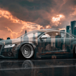 Audi RS5 Liberty Walk Tuning Super Crystal Mud Soul New York USA Brooklyn Bridge Art Car 2020