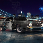 Chevrolet Camaro Anime Boy Super Crystal Dark Soul Brooklyn Bridge New York USA Artificial Intelligence God Art Car 2020