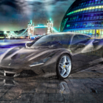 Ferrari F8 Tributo Super Crystal Complicated Soul City Hall London England Tactile Hologram Universe Art Car 2020