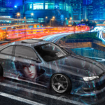 Nissan Silvia S14 Final Fantasy XV Noctis Lucis Caelum Crystal Street Soul Hong Kong Artificial Intelligence Car 2020