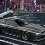 Nissan Silvia S14 JDM Tuning Super Crystal Street Soul Night City Universe Tactile Hologram Art Car 2020