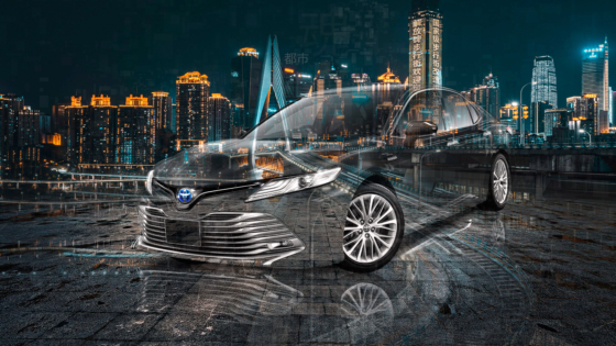 Toyota-Camry-Hybrid-Super-Crystal-City-Soul-Night-Tactile-Hologram-Universe-Art-Car-2020-Multicolors-8K-Wallpapers-design-by-Tony-Kokhan-www.el-tony.com-image