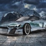 Audi R8 LMS GT2 Super Crystal Sport Soul Lofoten Islands Norway Tactile Hologram Art Car 2020
