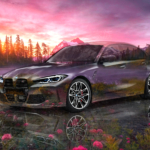 BMW M3 Competition Super Crystal Family Soul Nature Sunset Flowers Tactile Hologram Art Car 2020