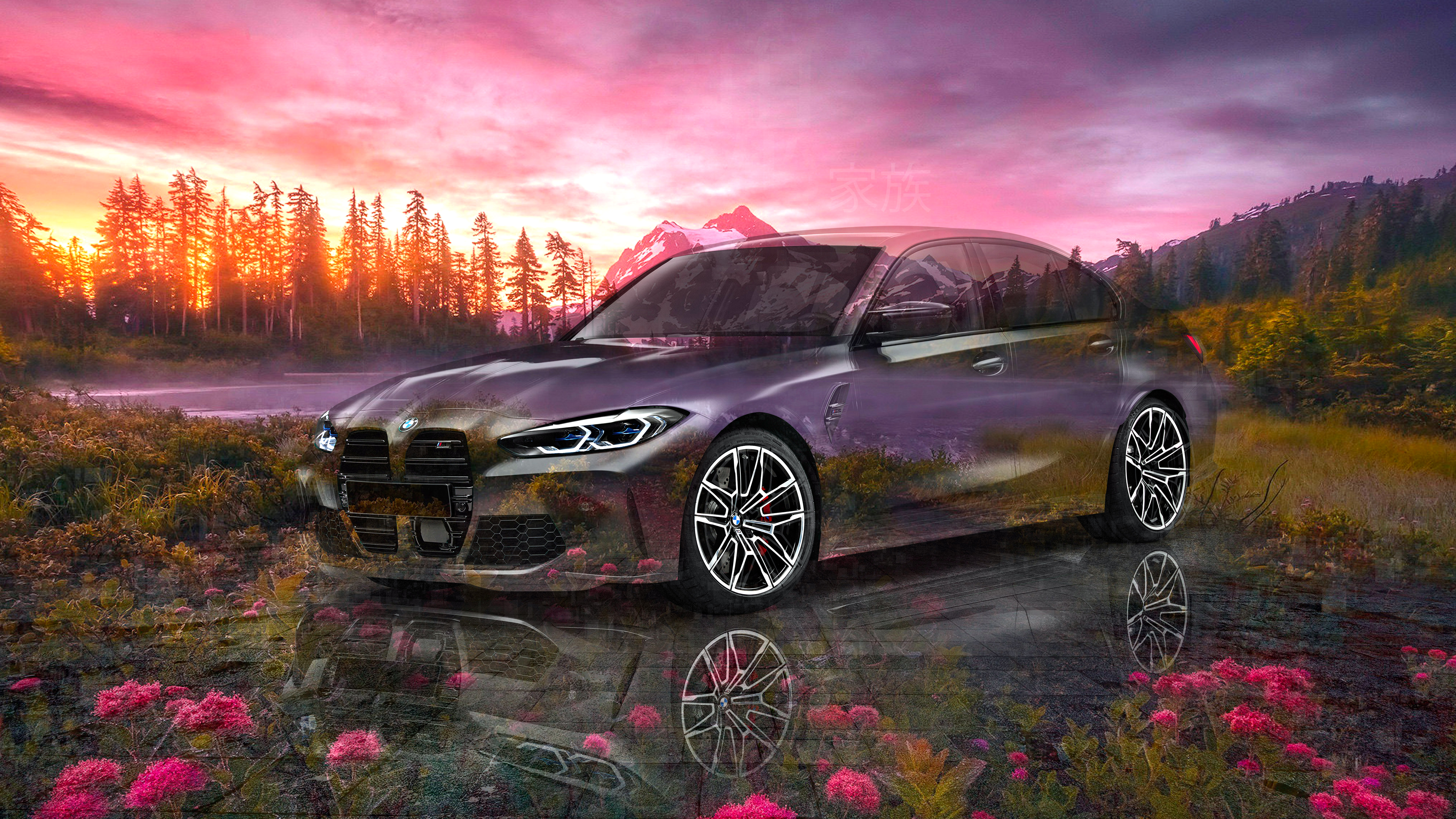 BMW-M3-Competition-Super-Crystal-Family-Soul-Nature-Sunset-Flowers-Tactile-Hologram-Art-Car-2020-Multicolors-8K-Wallpapers-design-by-Tony-Kokhan-www.el-tony.com-image