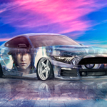 Ford Mustang GT Tuning Muscle Super Boy Final Fantasy XV Crystal Force Soul Sky Artificial Intelligence Art Car 2020