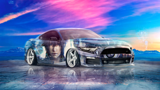 Ford-Mustang-GT-Tuning-Muscle-Super-Boy-Final-Fantasy-XV-Crystal-Force-Soul-Sky-Artificial-Intelligence-Art-Car-2020-Multicolors-8K-Wallpapers-by-Tony-Kokhan-www.el-tony.com-image