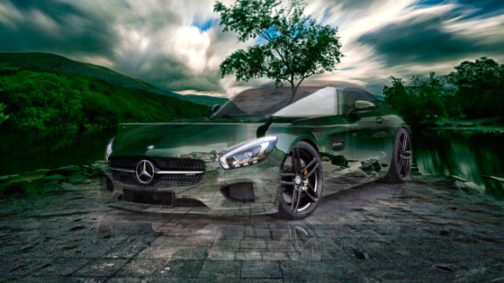 Mercedes-GT-AMG-Tuning-G-Power-Super-Crystal-Growth-Soul-Tactile-Hologram-Llyn-Padarn-Tree-Nature-Car-2020-Multicolors-8K-Wallpapers-by-Tony-Kokhan-www.el-tony.com-image