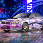 Subaru Legacy B4 JDM Super Anime Girl Neptunia Crystal Combat Soul Bangkok Thailand Artificial Intelligence Star Car 2020
