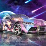 Toyota Supra A90 JDM Tuning Super Anime Girl Crystal Space Soul Artificial Intelligence Love Night City Art Car 2020