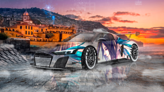 Audi-R8-LMS-GT2-Super-Anime-Girl-Crystal-Faith-In-God-Soul-Artificial-Intelligence-Tears-Car-2020-Multicolors-8K-Wallpapers-design-by-Tony-Kokhan-www.el-tony.com-image