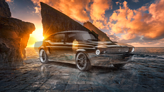 Ford-Mustang-Electric-Charge-Automotive-Super-Crystal-Charged-Soul-Faroe-Islands-Denmark-Atlantic-Ocean-Art-Car-2020-Multicolors-8K-Wallpapers-by-Tony-Kokhan-www.el-tony.com-image