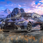 Lexus RC-F Track Edition Super Crystal Playful Soul Nature Mountains Sky Tactile Hologram Art Car 2020