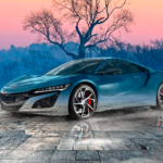 Honda NSX JDM Super Crystal Resentful Soul Fog Tree Tactile Hologram Art Car 2020