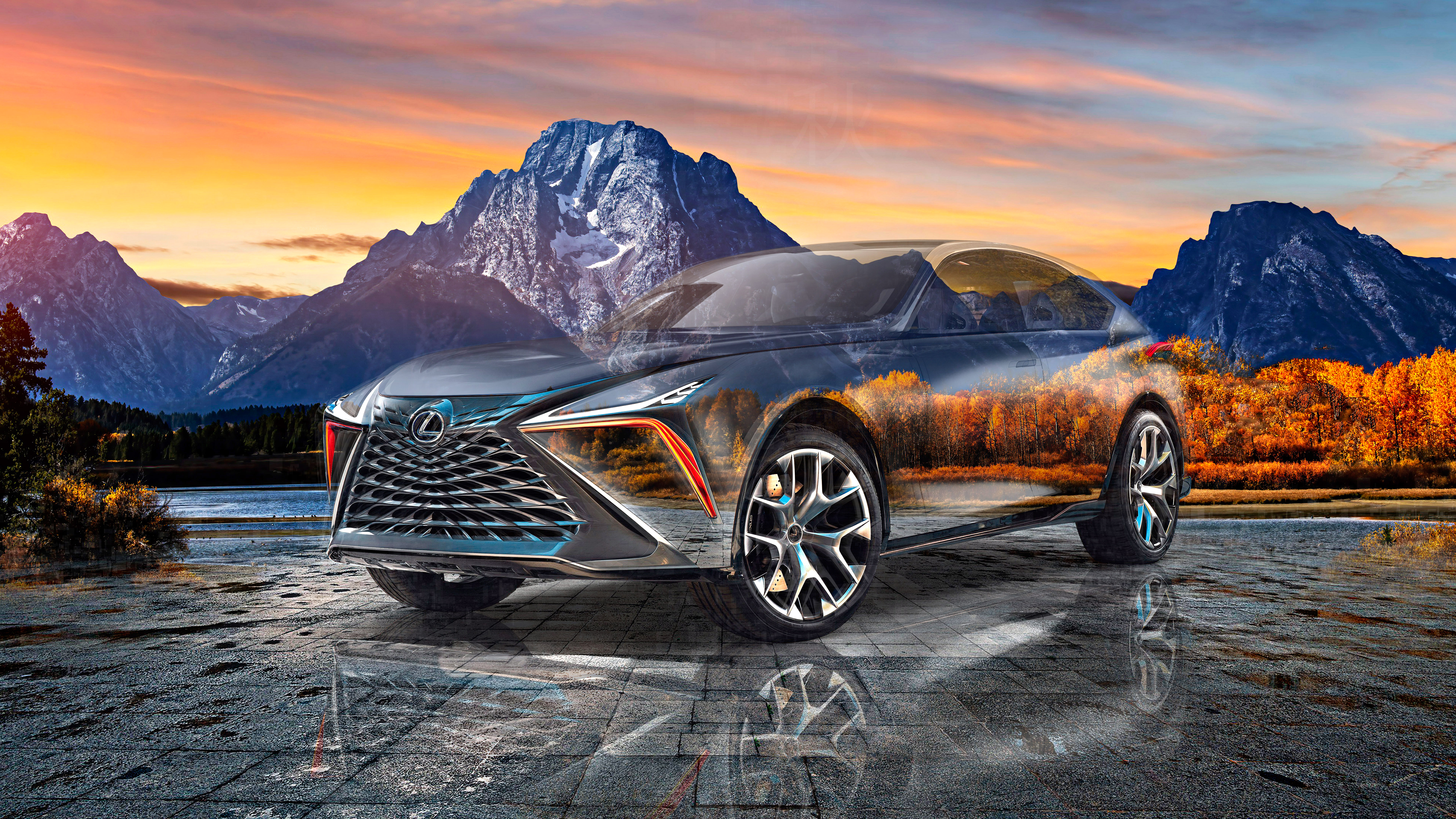 Lexus-LF-1-Limitless-Super-Crystal-Autumn-Soul-Grand-Teton-National-Park-USA-Nature-Art-Car-2020-Multicolors-8K-Wallpapers-design-by-Tony-Kokhan-www.el-tony.com-image