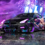 Nissan GTR R35 JDM Super Crystal Extrasensory Soul KDA Ahri LoL Artificial Intelligence Psychic Car 2020