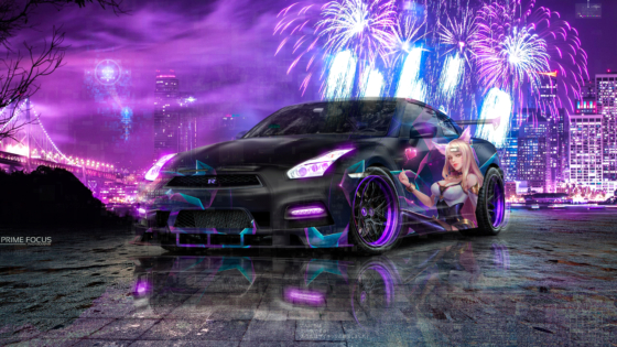 Nissan-GTR-R35-JDM-Super-Crystal-Extrasensory-Soul-KDA-Ahri-LoL-Artificial-Intelligence-Psychic-Car-2020-Multicolors-8K-Wallpapers-by-Tony-Kokhan-www.el-tony.com-image