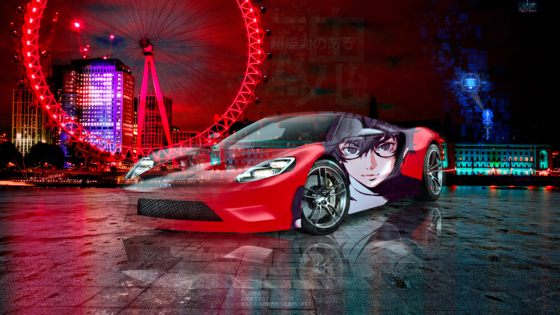 Ford-GT-Super-Anime-Boy-Kurusu-Akira-Crystal-Psychic-Soul-Artificial-Intelligence-Khabib-Nurmagomedov-London-Art-Car-2020-Multicolors-8K-Wallpapers-by-Tony-Kokhan-www.el-tony.com-image