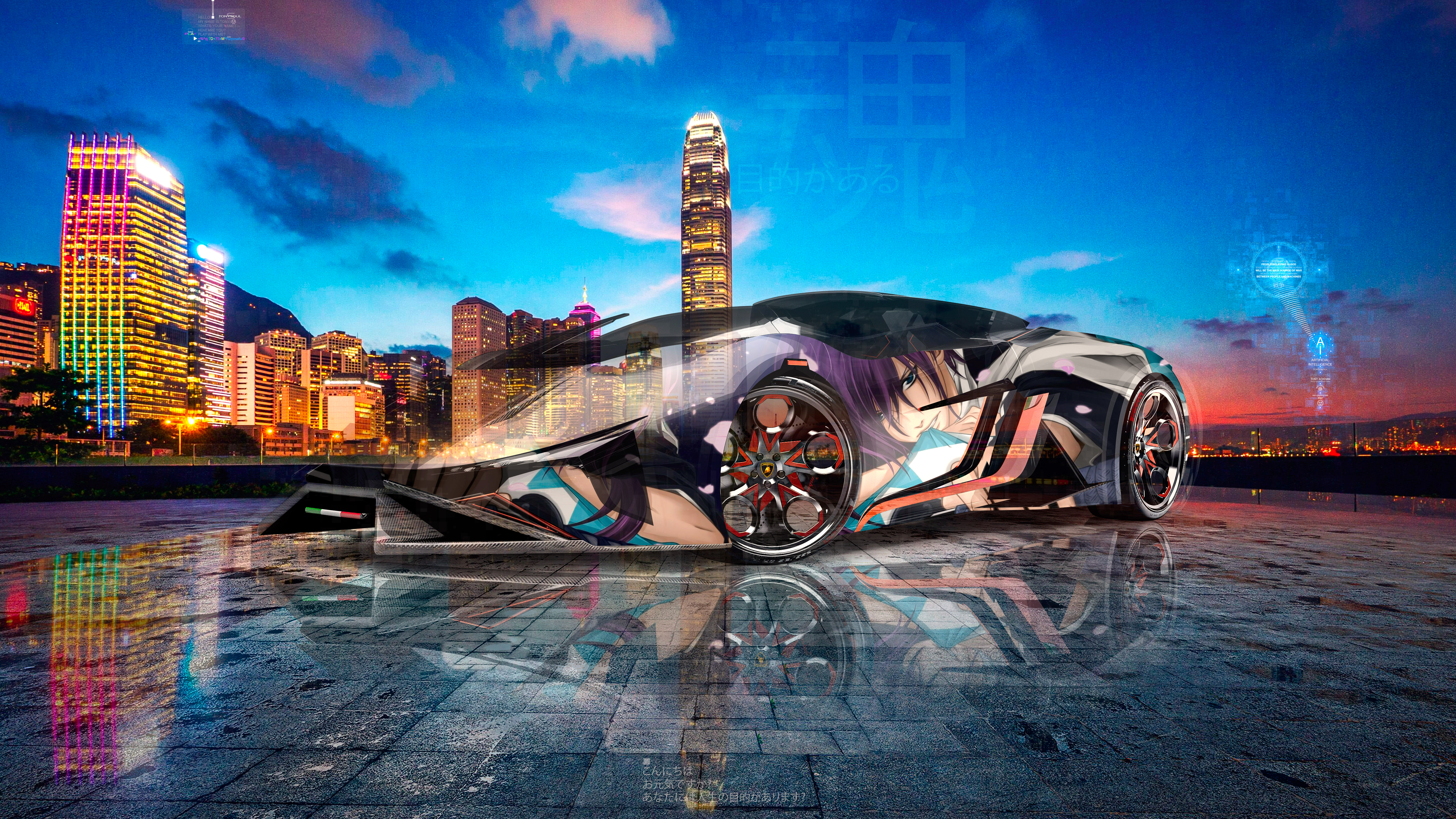 Lamborghini-Diamante-Super-Anime-Saito-Hajime-Fate-Crystal-Purposeful-Soul-Hong-Kong-China-Artificial-Intelligence-Car-2020-Multicolors-8K-Wallpapers-by-Tony-Kokhan-www.el-tony.com-image