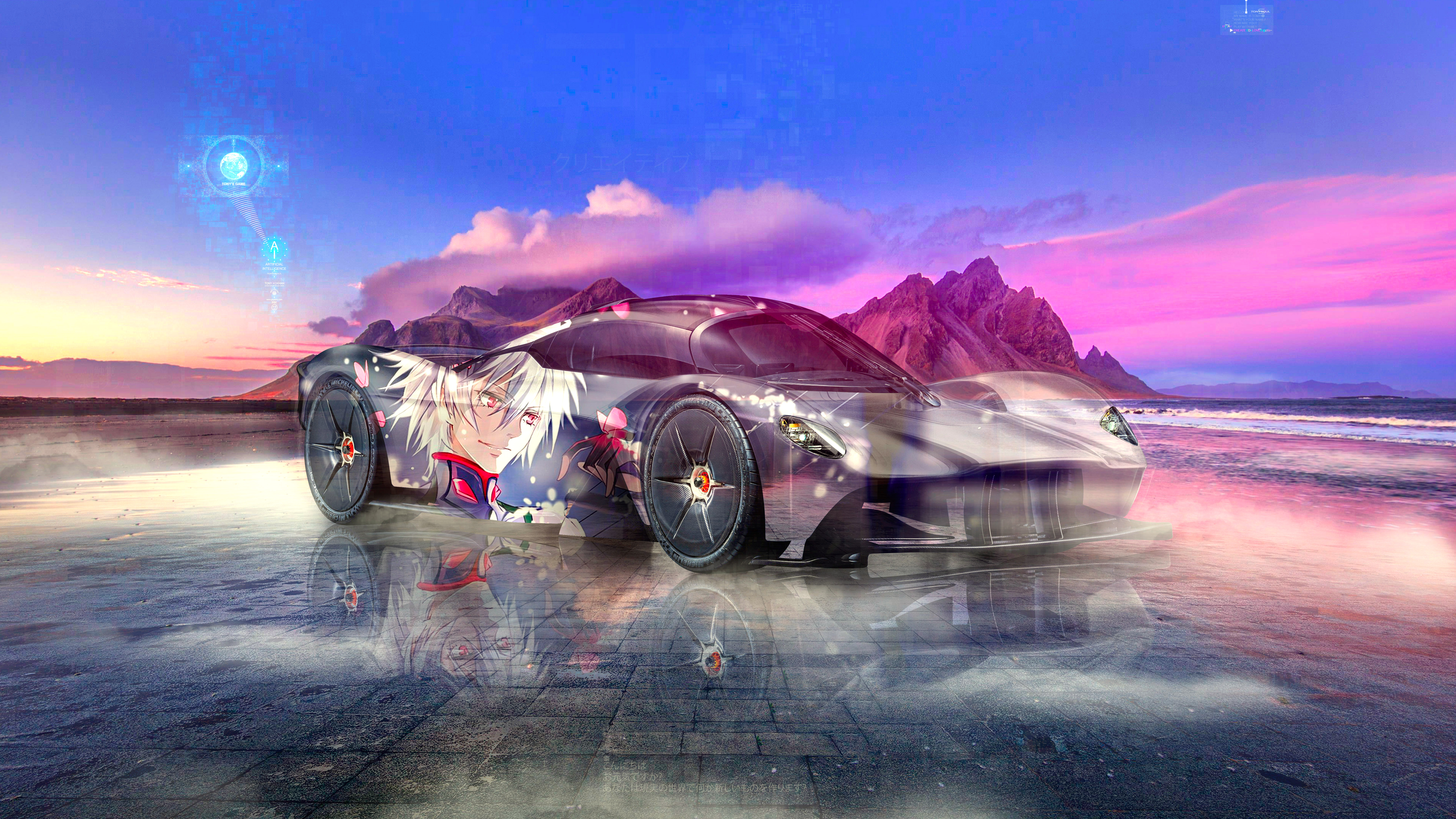 Aston-Martin-Valkyrie-Super-Anime-Kaworu-Nagisa-Evangelion-Crystal-Creative-Soul-Artificial-Intelligence-TonysGame-Car-2021-Multicolors-8K-Wallpapers-by-Tony-Kokhan-www.el-tony.com-image