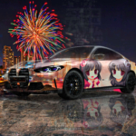 BMW M4 Super Anime Kids Girls Crystal Young Soul Pattaya Thailand Firework Artificial Intelligence Good Art Car 2021