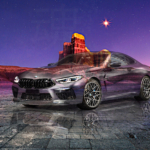 BMW M8 Competition Coupe Super Crystal Desperate Soul Mountain Star Tactile Hologram Art Car 2021