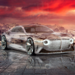 Bentley EXP 100 GT Super Crystal Essence Soul Nature Winter Mountains Sunset Tactile Hologram Art Car 2021
