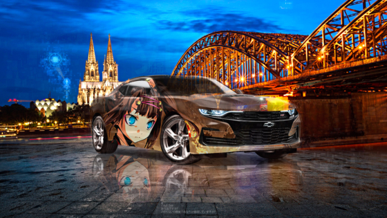 Chevrolet-Camaro-SS-Super-Anime-Girl-Crystal-Upset-Soul-Hohenzollern-Bridge-Germany-Artificial-Intelligence-Energy-Car-2021-Multicolors-8K-Wallpapers--by-Tony-Kokhan-www.el-tony.com-image