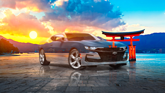 Chevrolet-Camaro-SS-Super-Crystal-Lucky-Soul-Torii-Gate-Japan-Sun-Tactile-Hologram-Art-Car-2021-Multicolors-8K-Wallpapers-by-Tony-Kokhan-www.el-tony.com-image
