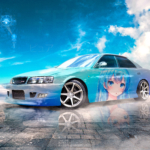 Toyota Chaser JZX100 JDM Tuning Super Anime Girl Crystal Pure Soul Sky Artificial Intelligence Learn Emotions Art Car 2021