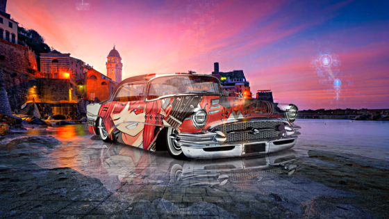 Buick-1955-Victoria-Super-Anime-Girl-Crystal-Musical-Soul-Vernazza-Italy-Artificial-Intelligence-Super-Star-Art-Car-2021-Multicolors-8K-Wallpapers-by-Tony-Kokhan-www.el-tony.com-image