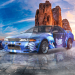 Nissan Skyline GTR R32 JDM Anime Boy Bird Super Crystal Free Soul Mountain Sky Artificial Intelligence Myself Art Car 2021