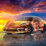 Porsche Panamera Super Anime Boy Crystal Evil Soul Sea Dawn Artificial Intelligence Human Soul Art Car 2021