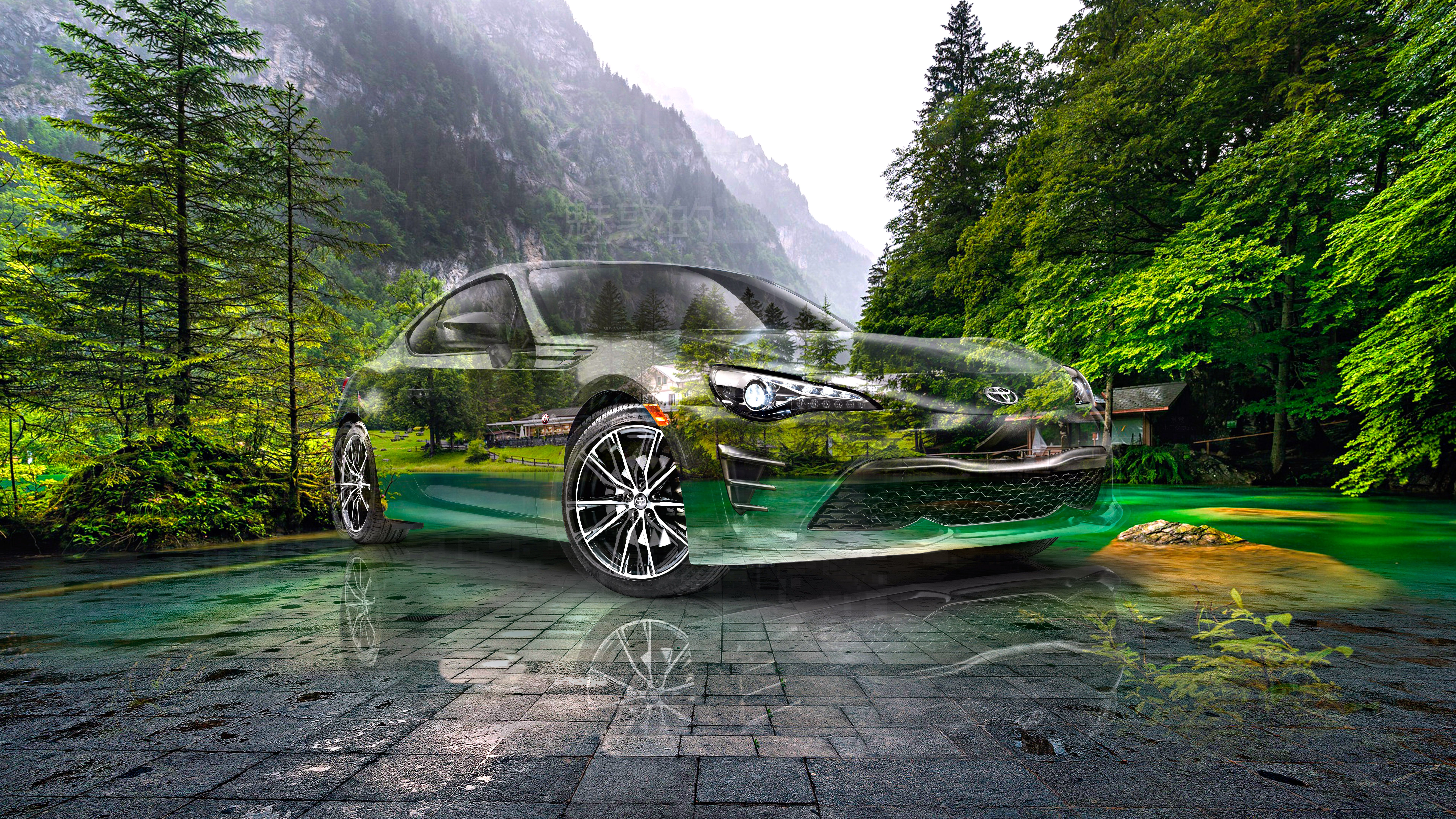 Toyota-GT86-JDM-Super-Crystal-Seductive-Soul-Nature-Forest-Mountains-Tactile-Hologram-Art-Car-2021-Multicolors-8K-Wallpapers-by-Tony-Kokhan-www.el-tony.com-image