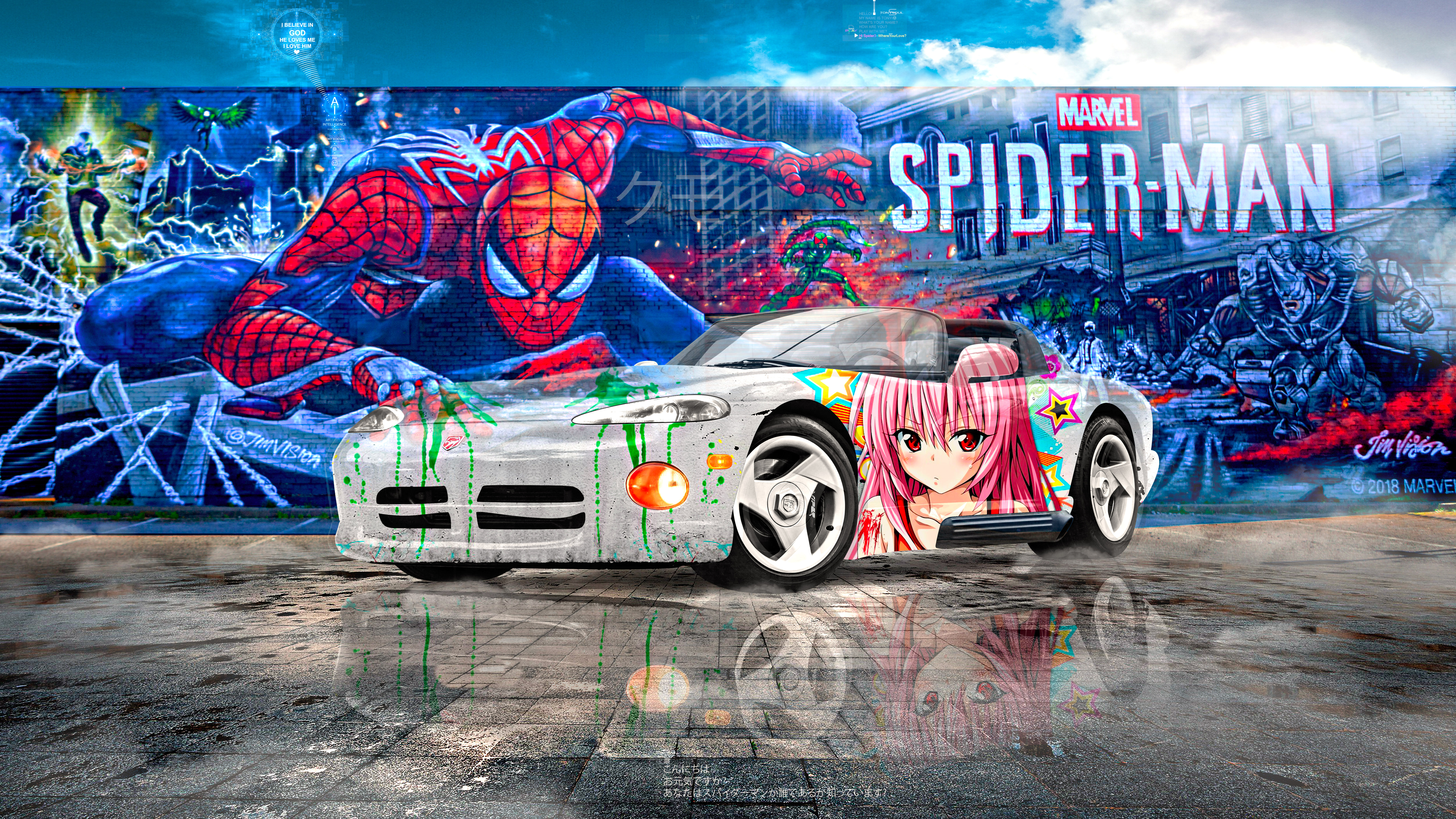 Dodge-Viper-RT10-Super-Anime-Girl-Spider-Man-Graffiti-Crystal-Spider-Soul-Artificial-Intelligence-God-Art-Car-2021-Multicolors-8K-Wallpapers-by-Tony-Kokhan-www.el-tony.com-image