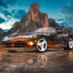 Dodge Viper RT10 Super Crystal Serpent Soul Mountains Sky Tactile Hologram Art Car 2021